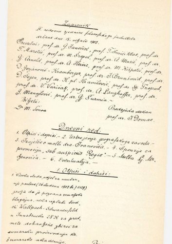 4. redovna sjednica 1902.