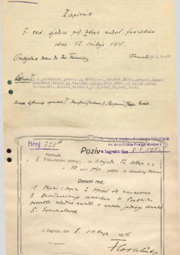 5. redovna sjednica 1914.-1915.