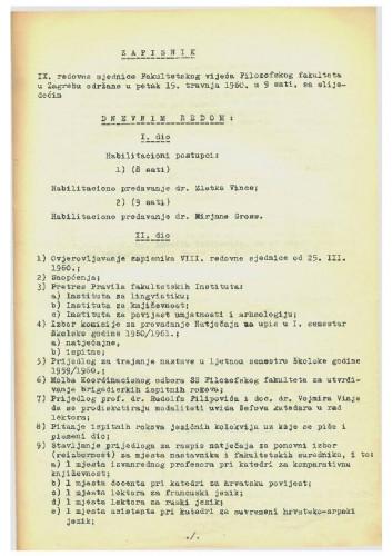 9. redovna sjednica 1959.-1960.