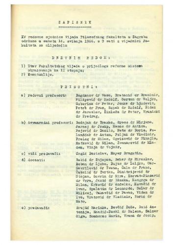 15. redovna sjednica 1965.-1966.