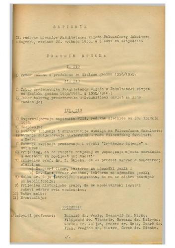 9. redovna sjednica 1957.-1958.