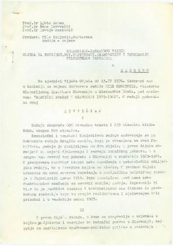 Sjednica: Mile Konjević 1976.-1977.