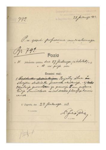 4. redovna sjednica 1913.-1914.