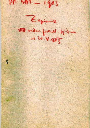8. redovna sjednica 1913.