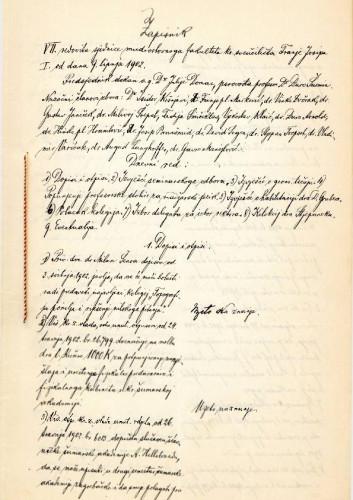 7. redovna sjednica 1902.