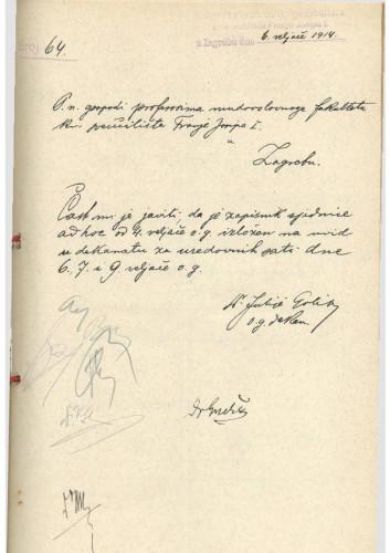 1. ad hoc sjednica 1913.-1914.
