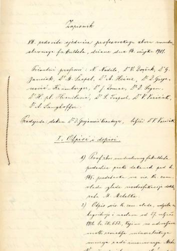7. redovna sjednica 1901.