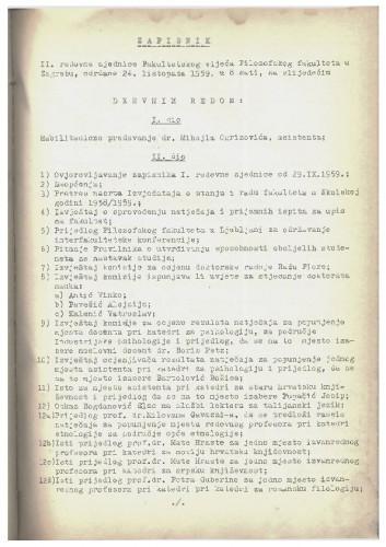 2. redovna sjednica 1959.-1960.