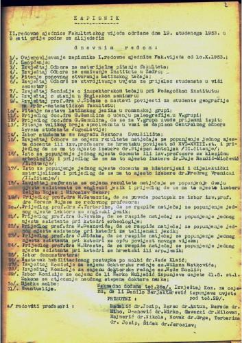 2. redovna sjednica 1953.-1954.