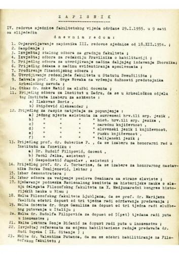 4. redovna sjednica 1954.-1955.