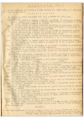 1. redovna sjednica 1950.-1951.