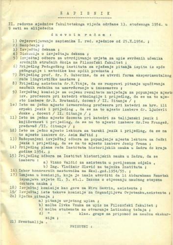 2. redovna sjednica 1954.-1955.