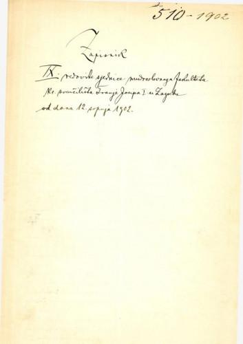 9. redovna sjednica 1902.