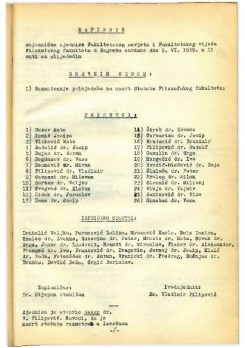 4. ad hoc sjednica 1958.-1959.