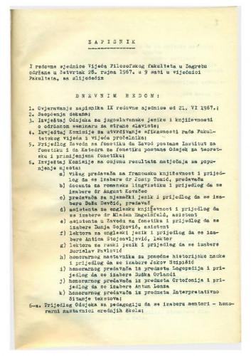 1. redovna sjednica 1967.-1968.