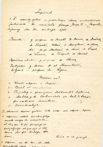5. redovna sjednica 1903.