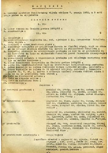 10. redovna sjednica 1951.-1952.
