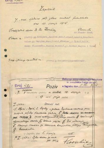 7. redovna sjednica 1914.-1915.