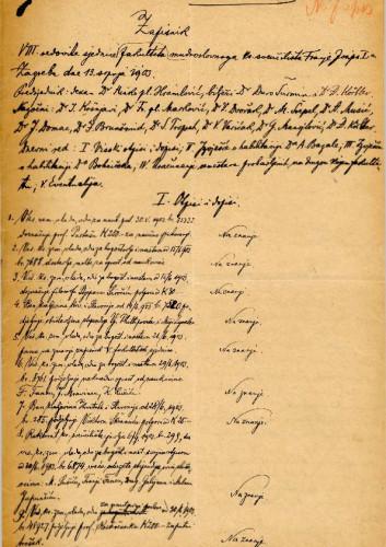 8. redovna sjednica 1903.