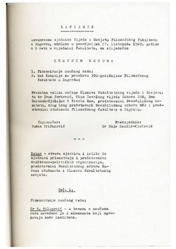 1. izvanredna sjednica 1969.-1970.