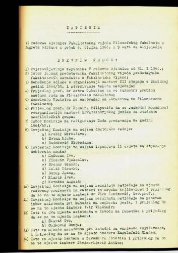 6. redovna sjednica 1963.-1964.