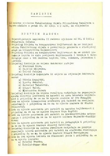 3. redovna sjednica 1963.-1964.