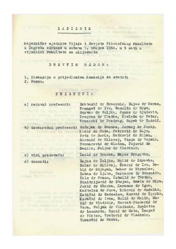 1. ad hoc sjednica 1965.-1966.