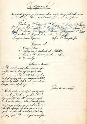6. redovna sjednica 1901.