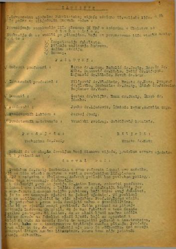 1. izvanredna sjednica 1949.-1950.