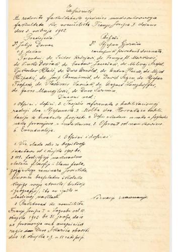 6. redovna sjednica 1902.