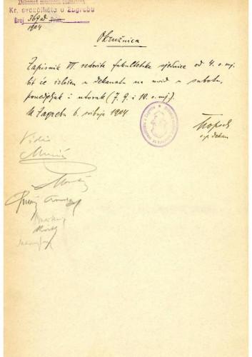 6. redovna sjednica 1904.