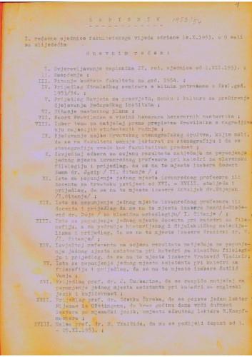 1. redovna sjednica 1953.-1954.
