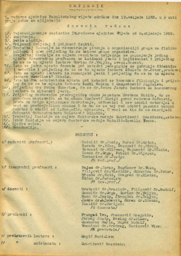 5. redovna sjednica 1951.-1952.