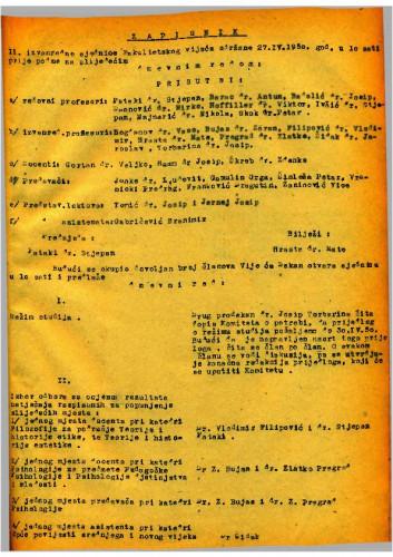 2. izvanredna sjednica 1949.-1950.