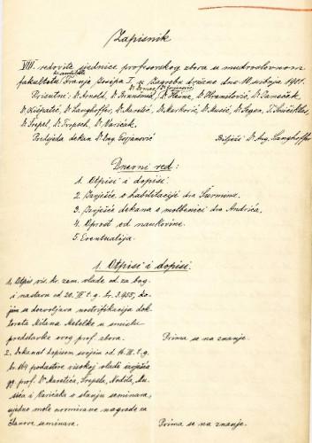 8. redovna sjednica 1901.