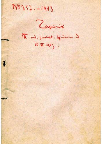 9. redovna sjednica 1913.
