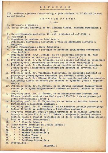 7. redovna sjednica 1953.-1954.