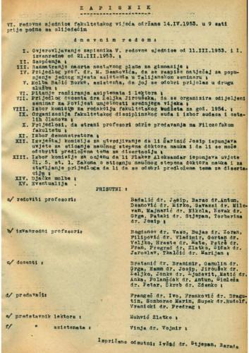 6. redovna sjednica 1952.-1953.