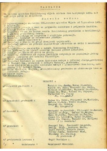 4. redovna sjednica 1951.-1952.